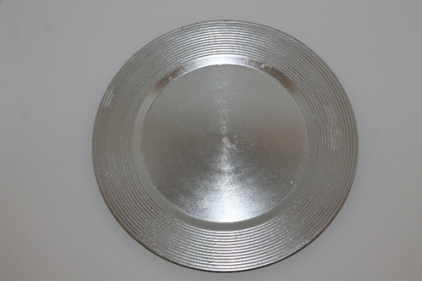 Silver Charger Plate plexi 13 inch round