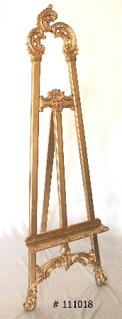Gold Easel 72 inch tall