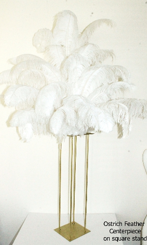 Harlow Stands with Ostrich Feathers