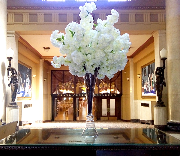 White Cherry Blossom Centerpieces