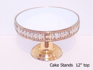 Gold Cake Stand 12 inch top
