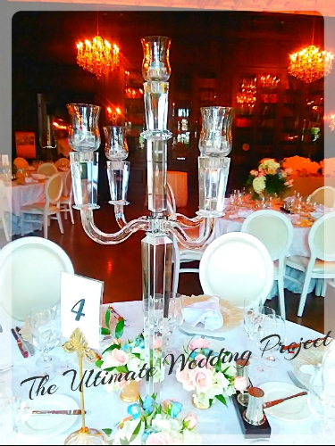 crystal candelabra with 5 arms