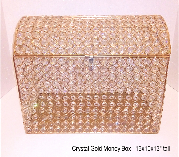 Gold Crystals Money Box