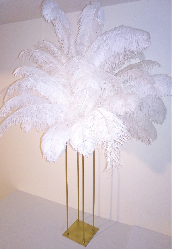 Ostrich Feather Centerpiece with Harlow stand