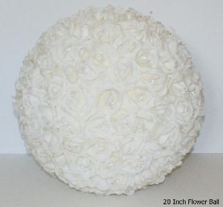 20 inch round flower ball