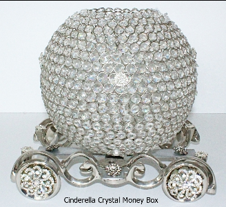 Crystal Cinderella Money Box