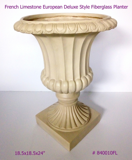 rench Limestone Fiberglass Planter European Deluxe Style