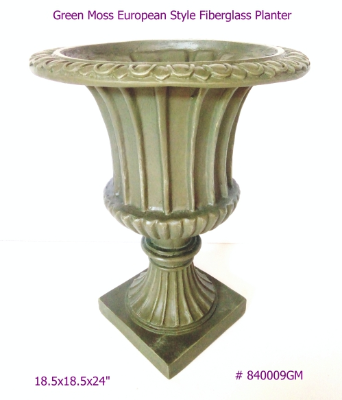 English Moss Fiberglass Planter European Style