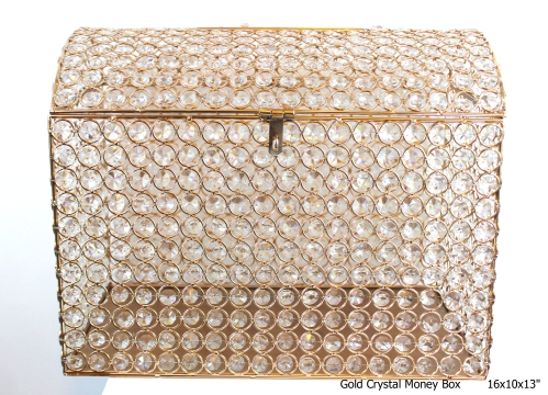 Gold Crystal Money Box # 1110054