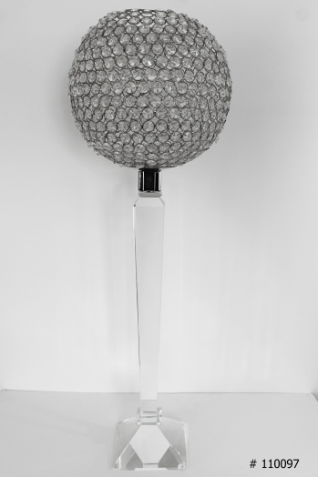 Crystal ball on crystal stand 32 inch tall # 110097