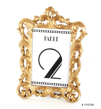 Gold frame with numbers for tables 6x9 inch # 1110154