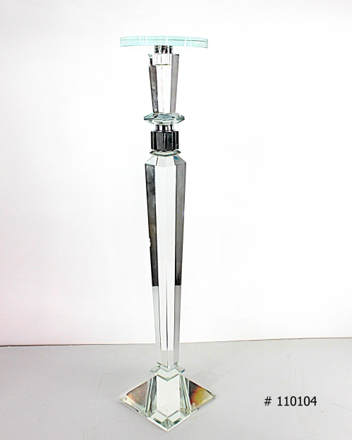 Crystal stand with plate for florals # 110104 28 inch tall