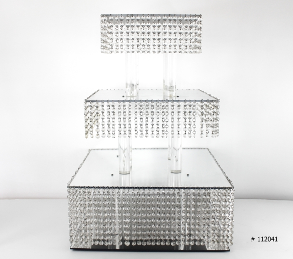 Cup cake stand silver 20x20 inch square # 112041