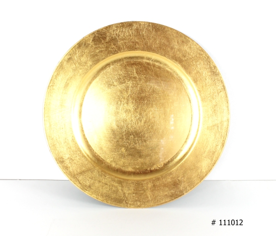 Gold Charger plate # 111012 13 inch round