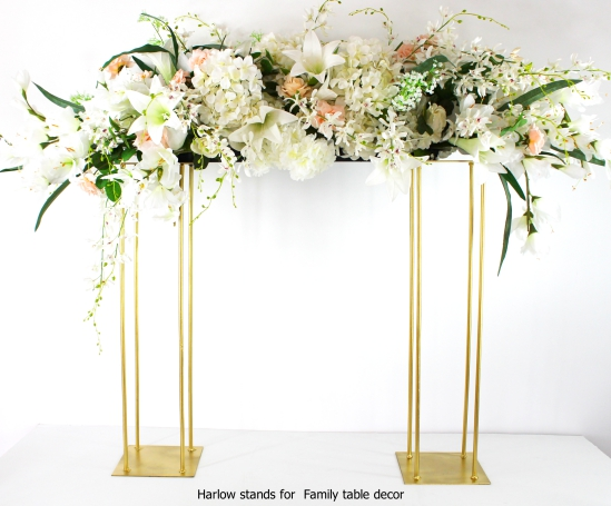 Gold Harlow Stands for the Family table decor