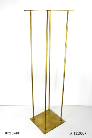 Harlow Stand Gold 10x10x40 inch tall # 1110007