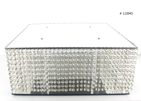 Mirror Cake stand silver 20x20 inch square # 112043