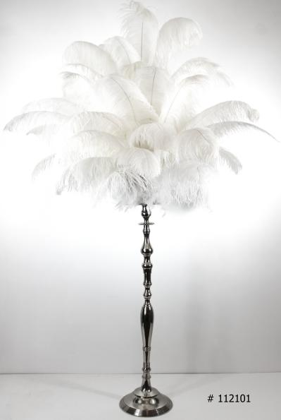 Ostrich feather centerpiece great gatsbys