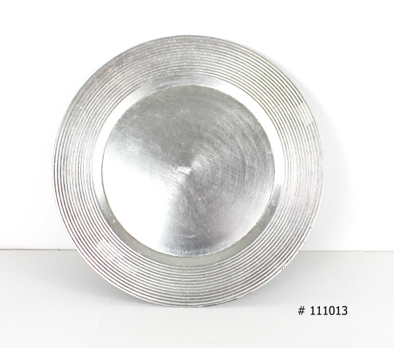 Silver charger plate plexi 13 inch round # 111013