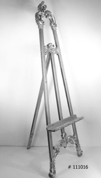 Silver easel 63 or 72 inch tall # 111016
