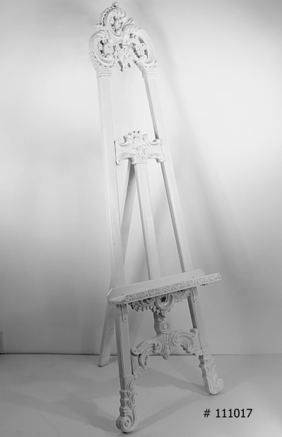 White easel in 63 or 72 inches tall # 111017