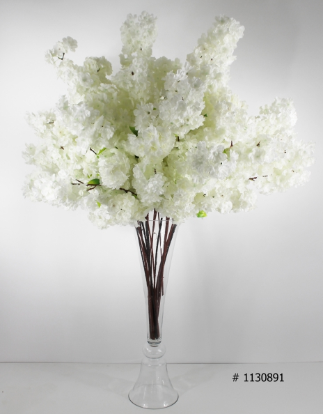 cherry bloosom centerpiece with clear vase 50 inch tall # 1130891