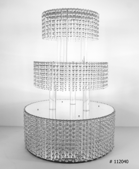crystal silver cake stand 20 inch round 30 inch tall # 112040