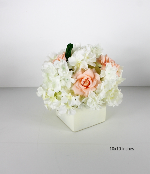 faux floral centerpiece for your wedding or special event 1