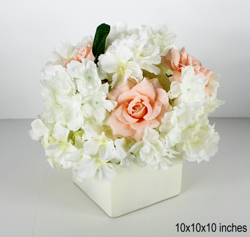 faux floral centerpiece for your wedding or special event 3