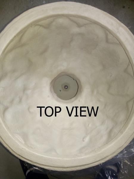 Fibeerglass Planter Top View